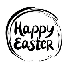 inscription happy easter performed in the round vector image vector image