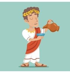 Pour drink jug bowl Roman Greek Retro Vintage vector image vector image