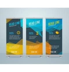 Roll Up Banner with Bubble Speech vector image vector image