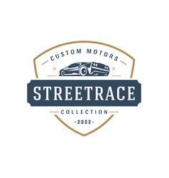 Sport car car logo template design element vector