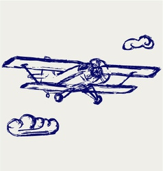 Airplane sketch vector image vector image