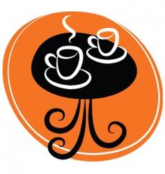 coffee table logo vector image vector image