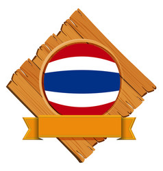flag of thailand on wooden board vector image