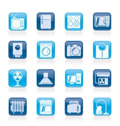 home appliances and electronics icons vector image vector image
