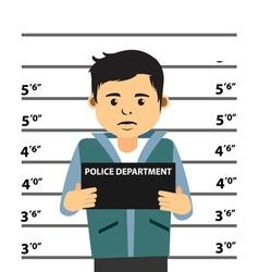 Mugshot of young man vector