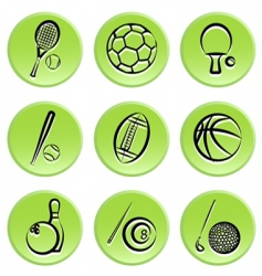 sport items icon vector image