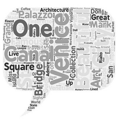 Venice City Guide text background wordcloud vector image vector image