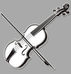violin lineart vector image vector image