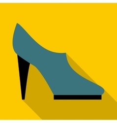 Woman shoe icon flat style vector image