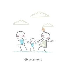 divorcement vector image