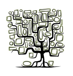 Family tree concept with empty frames vector image vector image