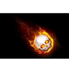 Fiery Skull vector image