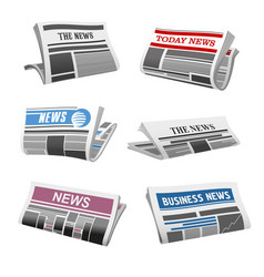 newspaper daily news isolated icons vector image vector image