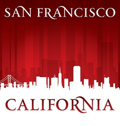 San Francisco California city skyline silhouette vector image vector image