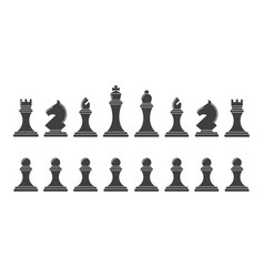 silhouettes of chess pieces vector image vector image