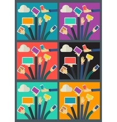 WiFi Gadget Social Network Concept Banner vector image