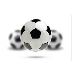 3d football or soccer ball on white background vector image vector image