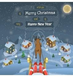 Christmas evening landscape vector image