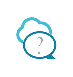 cloud chat bubble technology logo vector image