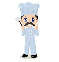 Cute cartoon of a chef vector image vector image