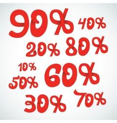 discount percents vector image vector image