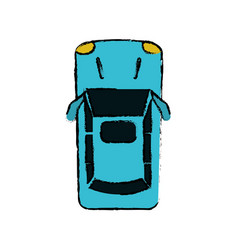 drawing car parking top view vector image
