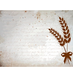 Ears of wheat vintage vector image