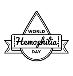 World Hemophilia day greeting emblem vector image