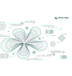abstract lines geometric elements design black vector image