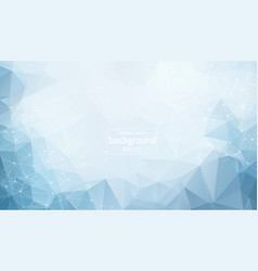 Abstract polygonal blue light background with vector