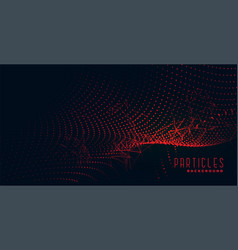 Abstract red glowing particles technology vector