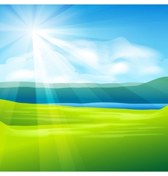 abstract summer landscape vector image vector image
