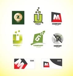 Alphabet letter logo set vector