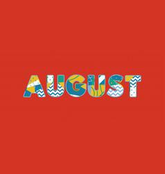 August concept word art vector