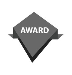 Award label design black color vector