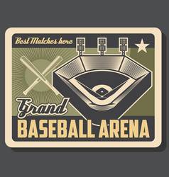 baseball sport tournament or match arena vector image