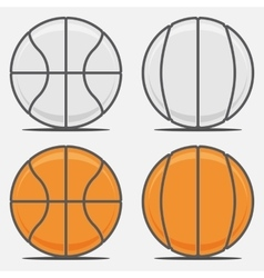 Basketball balls for your team logo vector