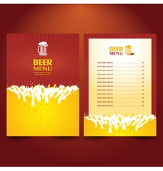 beer card menu splash vector image