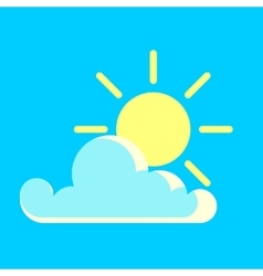 Blue sky and the sun day icon vector