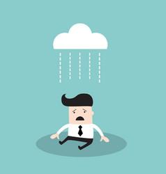 Businessman under brainstorming concept depressed vector
