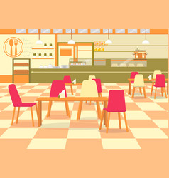 Cafe canteen affordable place to eat and chat vector