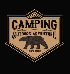 Camping lamp vintage adventure outdoor logo 13 vector