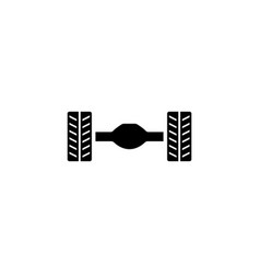 Car rear axle suspension flat icon vector