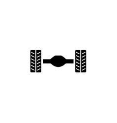 Car rear axle suspension flat icon vector