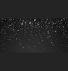christmas snowfall background xmas holiday vector image