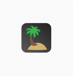 coconut tree beach logo design template vector image