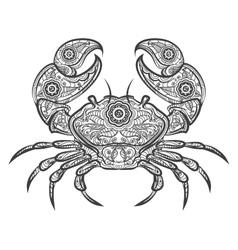 crab entangle icon hand drawn vector image