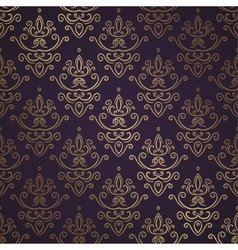 Dark Vintage Seamless Wallpaper vector image