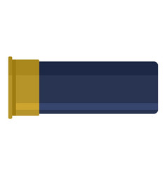 Empty cartridge shell icon flat style vector