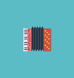 Flat icon accordion element vector